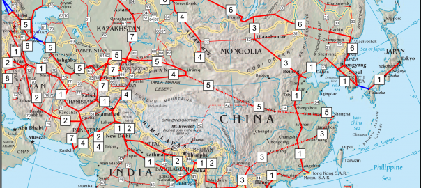 Map of Asian Highway Network